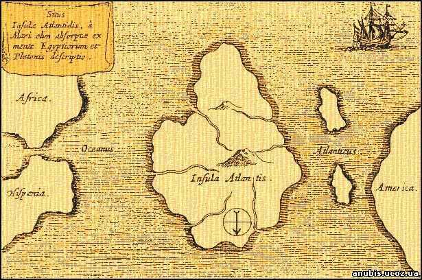 старинная карта, сделанная в 1665 году иезуитским священником и ученым Атенасиусом Кирхером